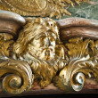 Stock Photo: Detail of fireplace in Hercules Salon (or Hercules Drawing Room) at famous palace of Versailles, France