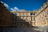 The interior court of the Palace of Versailles. Front facade of the famous Palace of Versailles, France — Zdjęcie stockowe