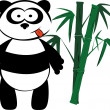 Stock Vector: Panda and bamboo