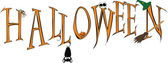 Halloween inscription — Vector de stock
