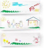 Child drawing. — Stock Vector