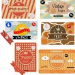 Vintage packages — Stock Vector