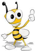 Vector Bee — Stock Vector