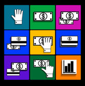 Finance icons. — Stock Vector