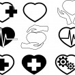 Cardio icons — Stock Vector #37844159