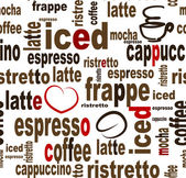 Coffee seamless pattern — Vettoriale Stock