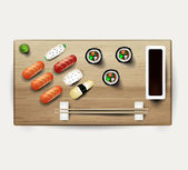 The sushi — Stock Vector