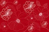 Abstracte achtergrond met bloemen — Stockfoto