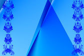 Ornate blue abstract background — Stock Photo