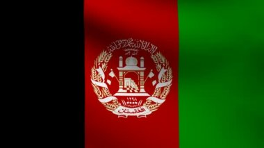 Afghanistan flag. — Stock Video #13516559