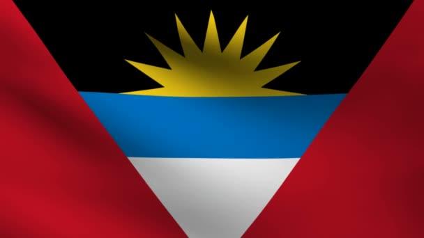 Drapeau d'antigua-et-barbuda. — Vidéo