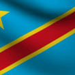 Stock Video: Congo flag.