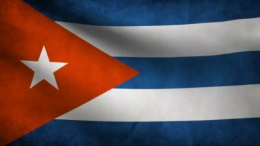 Cuba flag. — Stock Video