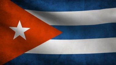 Cuba flag. — Stock Video
