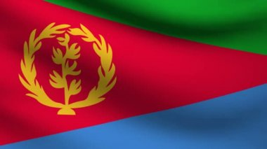 Eritrea flag. — Stock Video