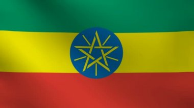 Ethiopia flag. — Stock Video