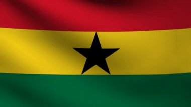 Ghana flag. — Stock Video