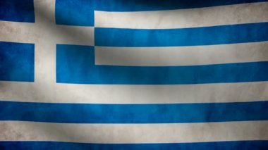 Greece flag. — Stock Video