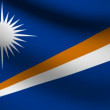 Marshall islands flag. — Stock Video #13626228