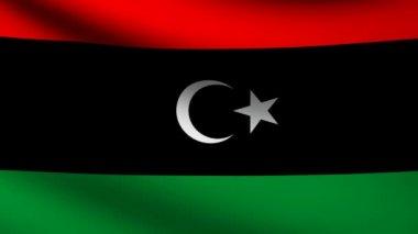Libyen-Flagge. — Stockvideo