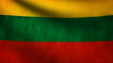 Republic Lithuania flag. — Stock Video