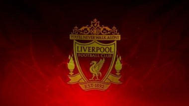 Liverpool fc flag. — Stock Video