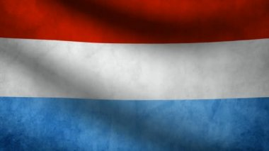 Luxembourg flag. — Stock Video