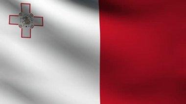 Malta vlajka. — Stock video