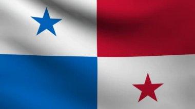 Bandera de Panamá. — Vídeo de Stock