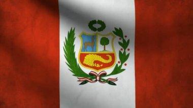 Peru flag. — Stock Video