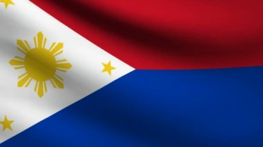 Philippines flag. — Stock Video