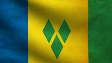 Saint Vicent and the grenadines flag. — Stock Video