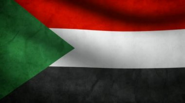 Sudan flag. — Stock Video