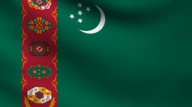 Turkmenistan flag. — Stock Video