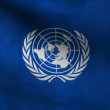 Stock Video: United Nations flag.