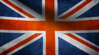 United Kingdom flag. — Stock Video