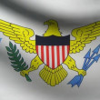 Stock Video: Virgin Islands flag.