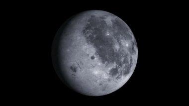 Moon Rotation. — Stock Video