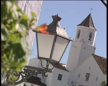 A typical village Church of Andalusia. — Stock Video