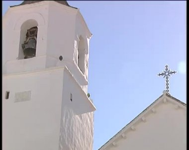 Belfry typical of Andalusia, Spain. — Stock Video
