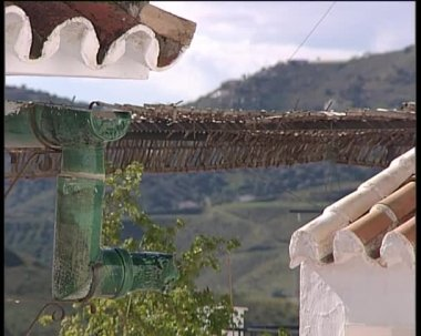 деталь дом в андалузской деревне. — Стоковое видео