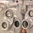 Eye exam in optics — Stock Video #13880054