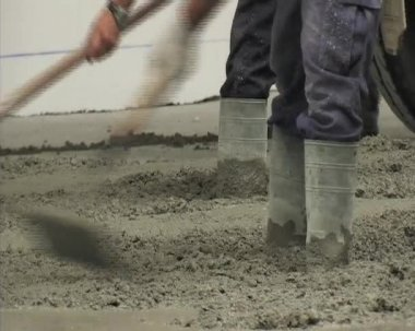 Smoothing concrete. Construction. — Stock Video
