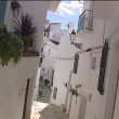 Typical street in village of Andalusia. — Stock Video