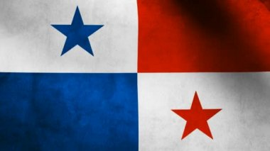 Panama flag. — Stock Video