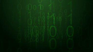 Binary code screen background. — Stock Video