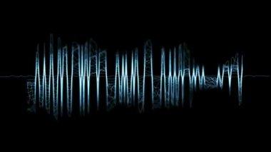 Audio spectrum. — Stock Video