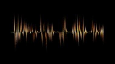 Audio spectrum orange — Stock Video