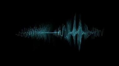 Audio spectrum loop. — Stock Video