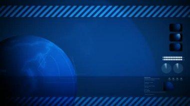 Global world background loop. — Stock Video